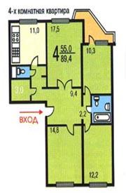 Планировка квартир домов серии пд-4. планеровки квартир - аг.